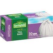Springfield Kitchen Tall Flap Tie White 13 Gallon Bags