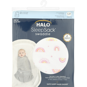 Halo Swaddle, Small, Sunshine Rainbows Print Cotton, 3 to 6 Months