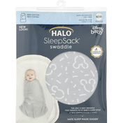 Halo Swaddle, Disney Baby, Newborn, Confetti Mickey Grey Print Cotton, Birth to 3 Months