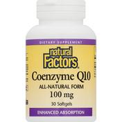 Natural Factors Coenzyme Q10, 100 mg, Softgels