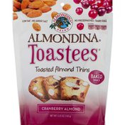 Almondina Toasted Almond Thins, Baked Snack, Cranberry Almond, Toastees, Pouch