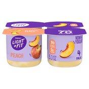 Light + Fit Nonfat Gluten-Free Peach Yogurt