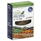 Two Moms In The Raw Almond Protein Crackers, Jive'n Chive & Onion, Box