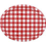 Unique Paper Plates, Red Gingham