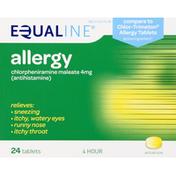 Equaline Allergy, 4 Hour, 4 mg, Tablets