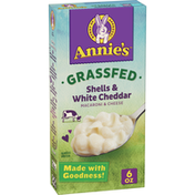 Annie's Organic Shells and White Cheddar Macaroni and Cheese, Grassfed