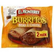 El Monterey Burritos, Been & Cheese, 2 Pack