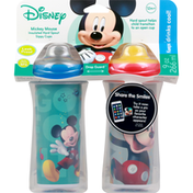 Disney Sippy Cups, Hard Spout, Insulated, 9 Ounce