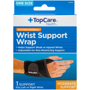 TopCare Antimicrobial Moderate Wrist Support Wrap, One Size