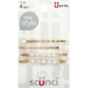 Scunci Real Style Pearl Bobby Pins