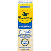 Friendship Dairies Buttermilk, Traditional Flavor, Cultured, Light