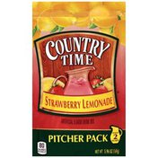 Country Time Strawberry Lemonade Drink Mix Pitcher Pack