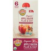 Earth's Best Stage 2 Apple Raisin Flax & Oat Organic Wholesome Breakfast Puree