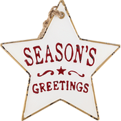 Gerson Ornament, Metal, Holiday Star, 11.6 Inch