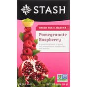 Stash Tea Green Tea Pomegranate Raspberry with Matcha