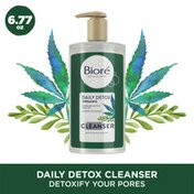 Bioré Daily Detox Face Wash, Cleanser with Organic Cannabis Sativa Seed Oil & Green Tea Extract