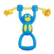 Leaps & Bounds Chomp & Chew Large Foamy Monkey Dog Toy With Rope