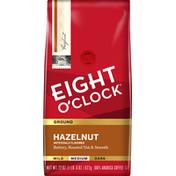 Eight O'Clock Coffee Coffee, Ground, Medium Roast, Hazelnut