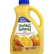 Florida's Natural 100% Juice, Orange, No Pulp, with Calcium & Vitamin D