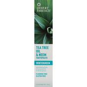 Desert Essence Toothpaste, Tea Tree Oil & Neem, Wintergreen