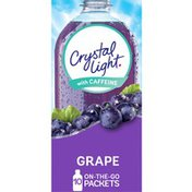Crystal Light Grape Naturally Flavored Powdered Drink Mix with Caffeine