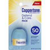 Coppertone Sunscreen, Face, Stick, SPF 50