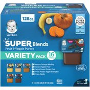Gerber Baby Food Super Blends Fruit & Veggie Purees Variety Pack