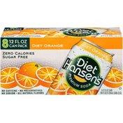 Hansen's Diet Orange Premium Soda