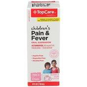 TopCare Children'S Pain Reliever & Fever Reducer Acetaminophen, 160 Mg Per 5 Ml Oral Suspension, Bubble Gum