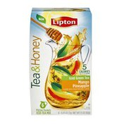 Lipton Tea & Honey Mango Pineapple Iced Green Tea Packets - 6 CT