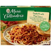 Marie Callender's Spaghetti And Meatballs With Bread Dinners