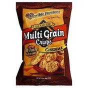 Sensible Portions Baked Snack, Multi Grain Crisps, Cheddar