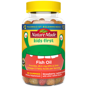 Nature Made Kids First® Fish Oil w. Omega-3 w. EPA and DHA Gummies - Strawberry, Lemon & Orange