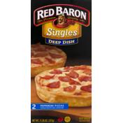 Red Baron Pizzas, Deep Dish, Pepperoni