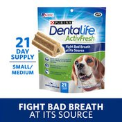 Purina DentaLife Dental Care Small/Medium Dog Chews, ActivFresh Daily Oral Care