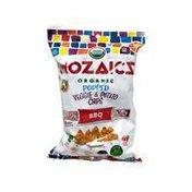 Mozaics Bbq Organic Popped Veggie & Potato Chips