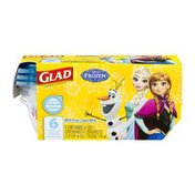 Glad Disney Frozen Mini Round Containers with Lids - 6 CT