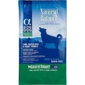 Natural Balance Alpha Dog Lamb Chicken Meal & Rabbit Grain Free Dry Dog Food