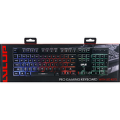 Lvlup Keyboard, with LED Keys, Pro Gaming