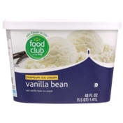 Food Club Vanilla Bean Premium Ice Cream