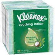 Kleenex Soothing Lotion Facial Tissues Cube Box