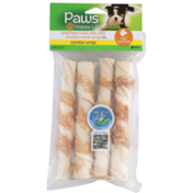 Paws Happy Life Combo Wrap Beefhide Twist Rolls With Chicken Meat Wrap For Dogs