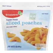 Brookshire's Peaches, Sliced, Frozen Fresh
