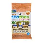 SeaSnax Premium Roasted Seaweed Snack Onion