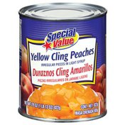 Special Value Yellow Cling Irregular Pieces In Light Syrup Peaches