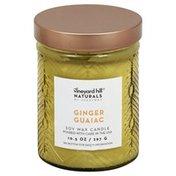 Vineyard Hill Naturals Candle, Soy Wax, Ginger Guaiac