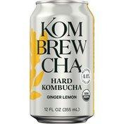 Kombrewcha Ginger Lemon Hard Kombucha