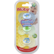 Nûby Pacifiers, Classic Oval, Pastels, 6-12M