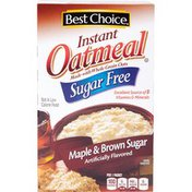 Best Choice Maple & Brown Sugar Flavored Sugar Free Instant Oatmeal