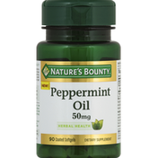 Nature's Bounty Peppermint Oil, 50 mg, Coated Softgels
